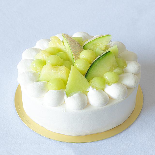 メロンのホールケーキ