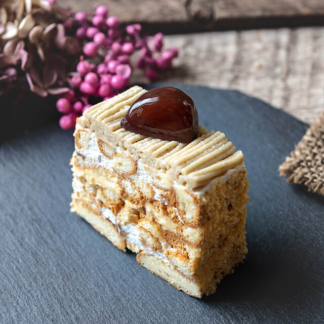ベリースイーツの栗のショートケーキ